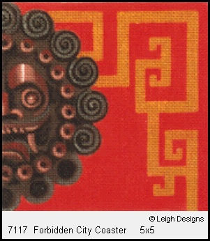 click here to view larger image of Forbidden City Coaster (hand painted canvases)
