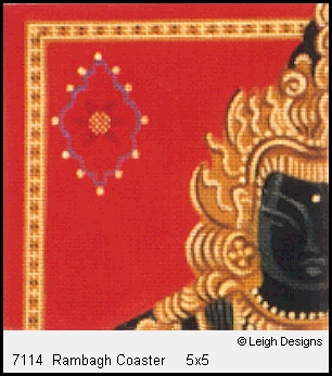 click here to view larger image of Rambagh Coaster (hand painted canvases)