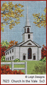 click here to view larger image of Church in the Vale (hand painted canvases)