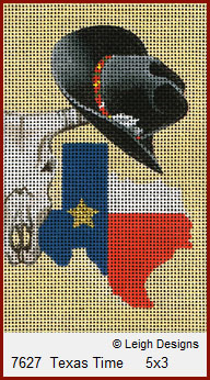 click here to view larger image of Texas Time (hand painted canvases)