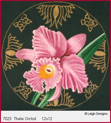 click here to view larger image of Thalie Orchid (hand painted canvases)