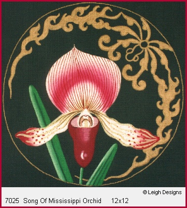 click here to view larger image of Song of Mississippi Orchid (hand painted canvases)