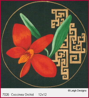click here to view larger image of Coccinea Orchid (hand painted canvases)