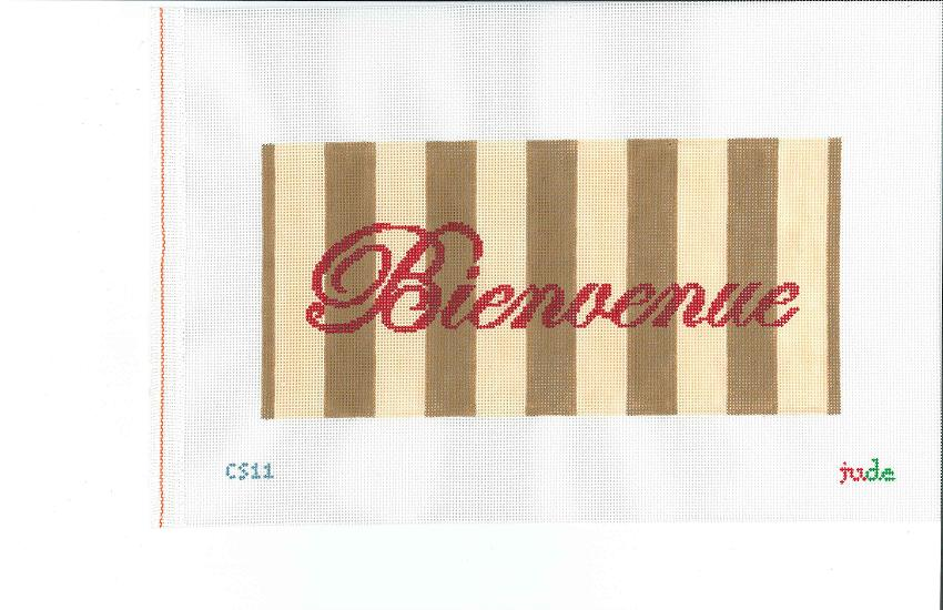 click here to view larger image of Bienvenue - 18ct (hand painted canvases)