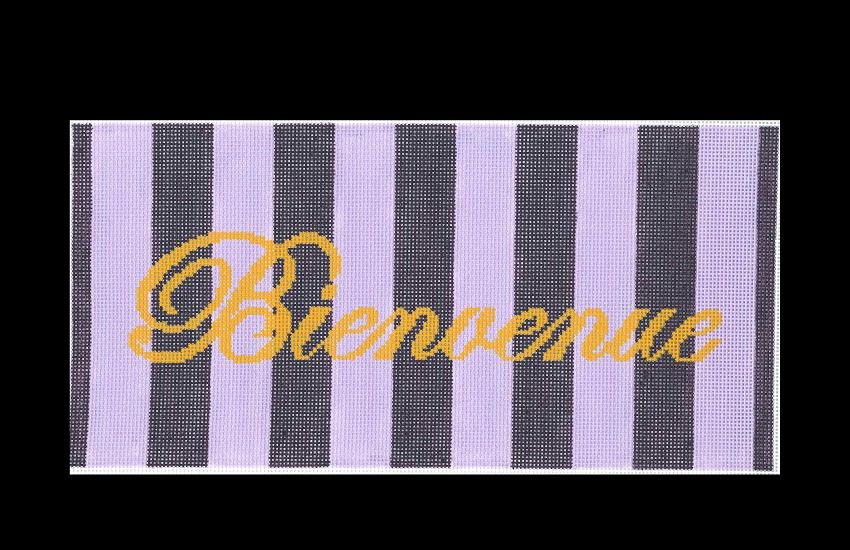 click here to view larger image of Bienvenue Purple -  13ct (hand painted canvases)