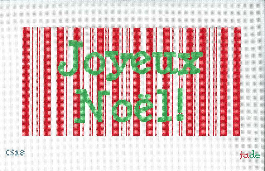 click here to view larger image of Joyeux Noel - 18ct (hand painted canvases)