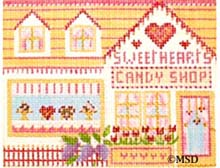 click here to view larger image of Sweetheart Candy (hand painted canvases)
