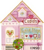click here to view larger image of Cupids Card Shop (hand painted canvases)