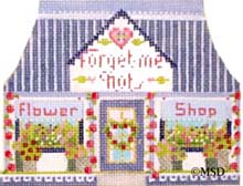 click here to view larger image of Forget Me Not Flowers (hand painted canvases)