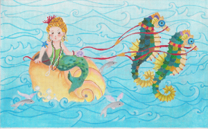 click here to view larger image of Water Baby's Sleigh Ride (hand painted canvases)