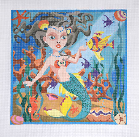 click here to view larger image of Little Mermaid (hand painted canvases)