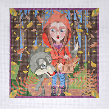click here to view larger image of Red Riding Hood (hand painted canvases)