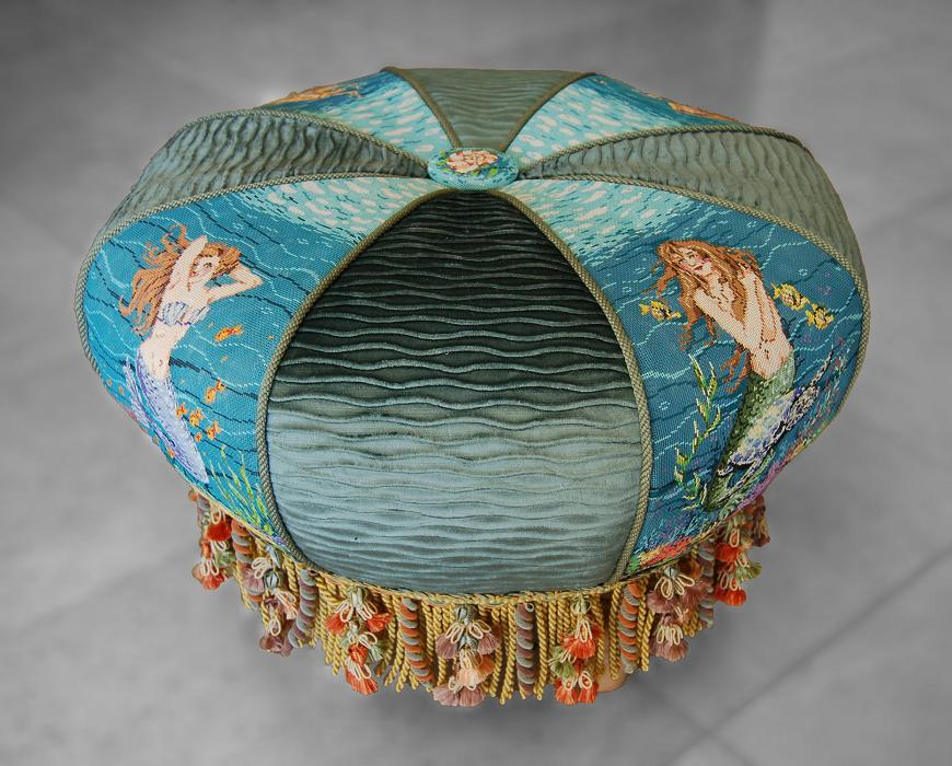 click here to view larger image of Mermaid Tuffet (5 Pieces) (hand painted canvases)