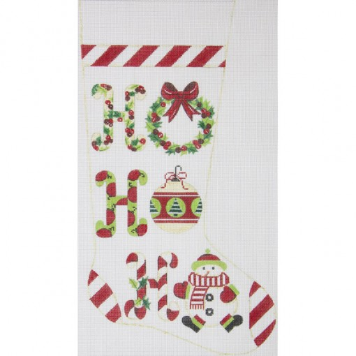 click here to view larger image of Ho Ho Ho Stocking (hand painted canvases)