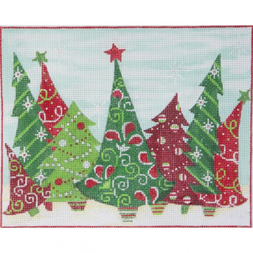 click here to view larger image of Crazy Christmas Trees (hand painted canvases)