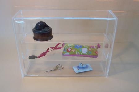 click here to view larger image of Lucite Display Box with Shelf (accessories)