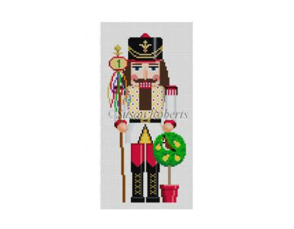 click here to view larger image of Partridge in a Pear Tree Nutcracker (hand painted canvases)