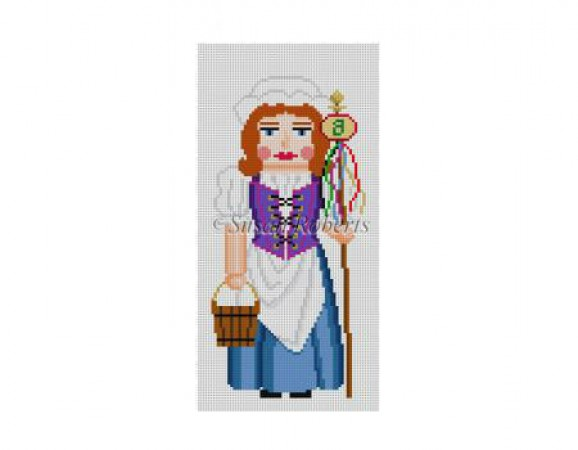 click here to view larger image of Eight Maids a Milking Nutcracker (hand painted canvases)