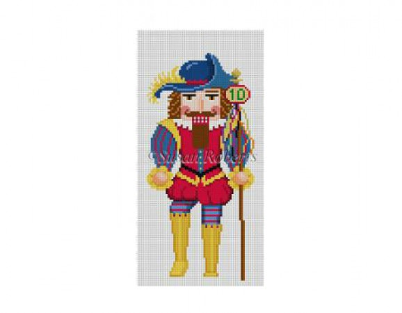 click here to view larger image of Ten Lords a Leaping Nutcracker (hand painted canvases)