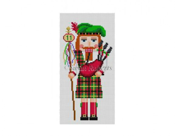 click here to view larger image of Eleven Pipers Pipping Nutcracker (hand painted canvases)