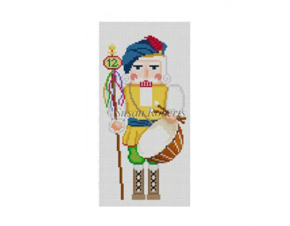 click here to view larger image of Twelver Drummers Drumming Nutcracker (hand painted canvases)