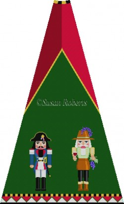 click here to view larger image of Napoleon and Winemaker Nutcracker Tree Skirt Panel (without background) (hand painted canvases)