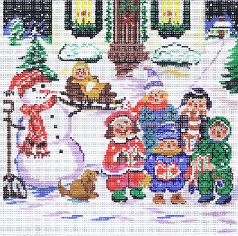 click here to view larger image of Winter - Kids (hand painted canvases)