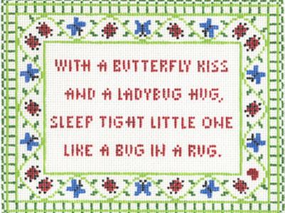 click here to view larger image of Butterfly Kiss (hand painted canvases)