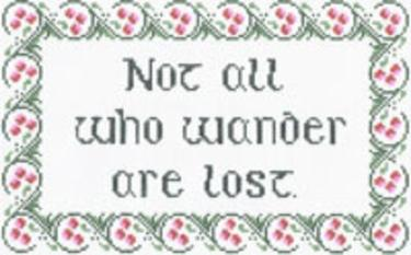 click here to view larger image of Not All Who Wander (hand painted canvases)