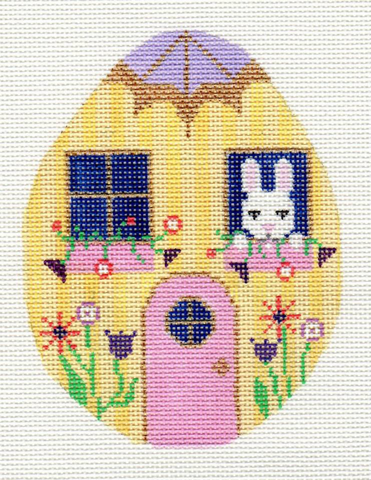 click here to view larger image of Yellow Egg House (hand painted canvases)