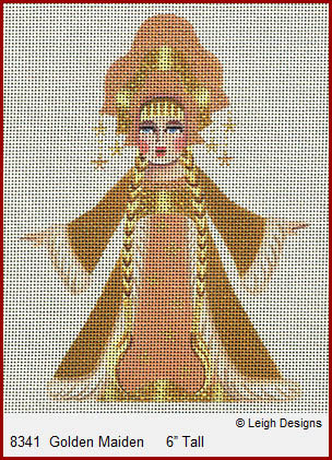 click here to view larger image of Golden Maiden (hand painted canvases)
