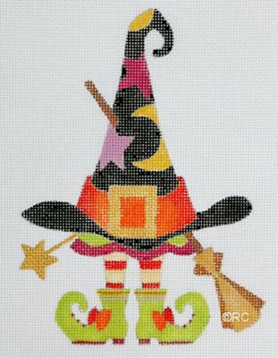 click here to view larger image of Witch Hat and Shoes (hand painted canvases)