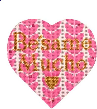 click here to view larger image of Besame Mucho Heart (hand painted canvases)