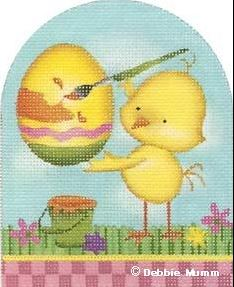 click here to view larger image of Chick Painting Egg (hand painted canvases)