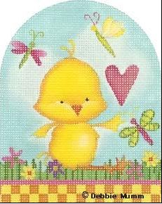 click here to view larger image of Chick Heart Egg (hand painted canvases)