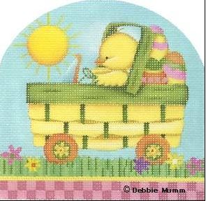 click here to view larger image of Basket Car (hand painted canvases)