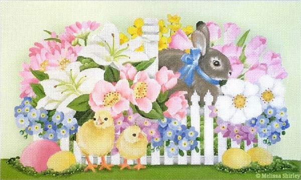 click here to view larger image of Easter Basket (hand painted canvases)
