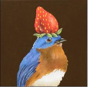 Fabian the Bluebird hand painted canvases