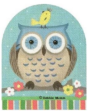 click here to view larger image of Blue Owl (hand painted canvases)