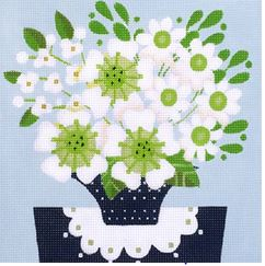click here to view larger image of Green and White Bouquet (hand painted canvases)
