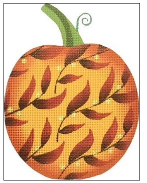 click here to view larger image of Berry Vine Pumpkin (hand painted canvases)
