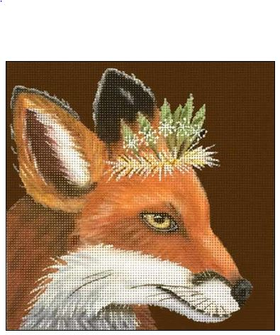 click here to view larger image of Duchess Fox (hand painted canvases)