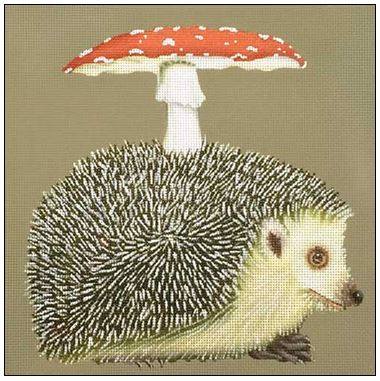 click here to view larger image of Hedgehog Mushroom (hand painted canvases)