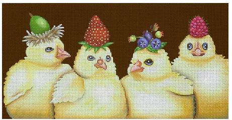 click here to view larger image of Berry Peeps (hand painted canvases)