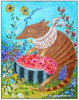 click here to view larger image of Armadillo Watermelon (hand painted canvases)