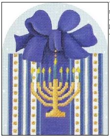 click here to view larger image of Menorah Gift (hand painted canvases)