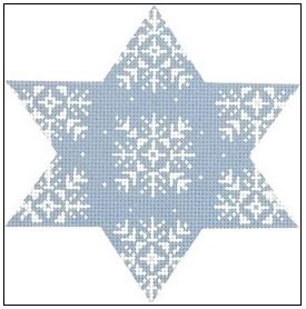 click here to view larger image of Star Snowflakes (hand painted canvases)