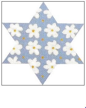 click here to view larger image of Star Blossom (hand painted canvases)