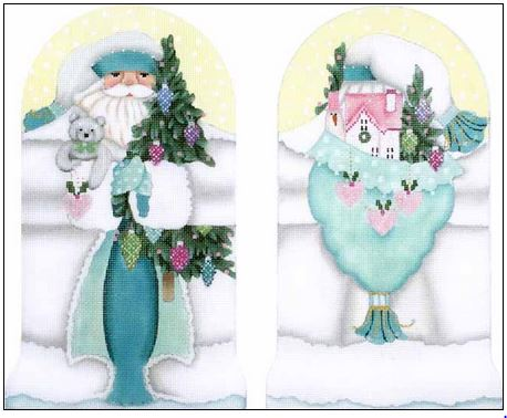 click here to view larger image of Winter White Santa Stand-Up (hand painted canvases)