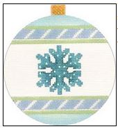 click here to view larger image of Snowflake Ornament (hand painted canvases)